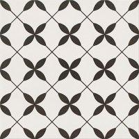 Patchwork Clover Black Pattern 29,8x29,8