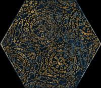 Paradyż Urban Colours Blue Inserto Szklane Heksagon A 17,1x19,8