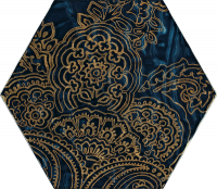 Urban Colours Blue Inserto Szklane Heksagon B 17,1x19,8