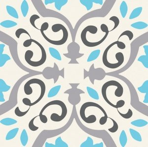 Tubądzin Patch White Dekor 22,3x22,3