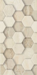 Paradyż Sunlight Stone Beige Dekor Geometryk 30x60