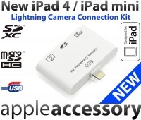 iPad 4 iPad mini Camera Connection Kit USB SD Lightning