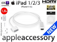 Kabel Przejściówka Digital AV Adapter HDMI Apple iPad iPhone 1,8m