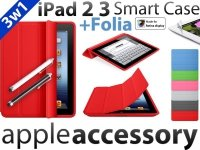 3w1 iPad 2 / 3/ 4 Smart Case Etui +Folia RETINA +C-Pen
