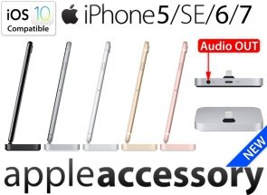Stacja dokująca do iPhone 5 SE 6 7 Plus Dock Lightning + AUDIO