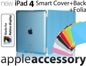 3w1 Smart Cover+Back Cover + Folia iPad 4 RETINA