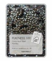 TONY MOLY PURENESS 100 Kawior Maska płachta 21ml