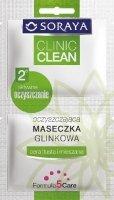 Soraya Clinic Clean Maseczka oczyszczajaca z glinka - saszetka  5 ml x 2
