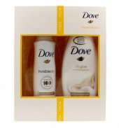 Dove Zestaw prezentowy Elegant Beauty (deo spray Invisible dry 150ml + żel pod prysznic Silk Glow 250ml)