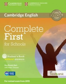 Complete First for Schools Student's Book without answers + Testbank + CD