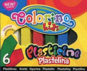 Plastelina kwadratowa Colorino Kids 6 kolorów