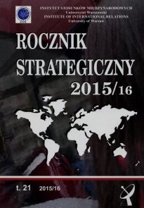 Rocznik strategiczny 2015/2016 Tom 21