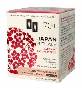 AA Japan Rituals 70+ Aktywny Bio-Krem na noc - ultra wzmocnienie  50ml