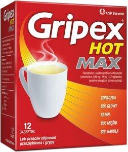 GRIPEX HOT MAX 12 saszetek
