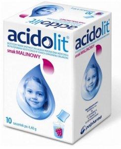 ACIDOLIT x 10 saszetek smak malinowy