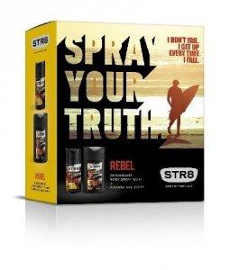 STR 8 Zestaw Prezentowy Rebel (deo spray 150ml + żel pod prysznic 250ml)