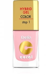 Delia Cosmetics Coral Hybrid Gel Emalia do paznokci nr 04 róż pastelowy 11ml