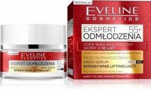 Eveline Ekspert Odmłodzenia 55+ Krem-serum intensywnie liftingujący na dzień i noc  50ml