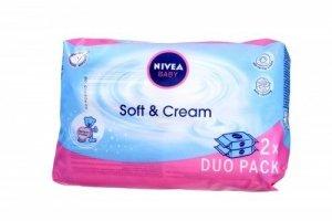 Nivea Baby Chusteczki Soft & Creme duopack  2 x 63szt