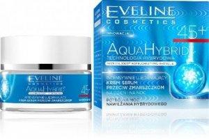 Eveline Aqua Hybrid Krem-serum 45+ na dzień i noc przeciwzmarszczkowy 50ml