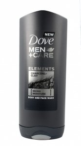 Dove Men+Care Żel do mycia twarzy i ciała Charcoal+Clay  400ml