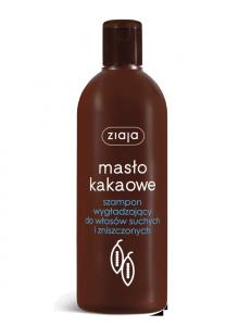 Ziaja MASŁO KAKAOWE szampon wygładzający do włosów suchych i zniszczonych 400 ml