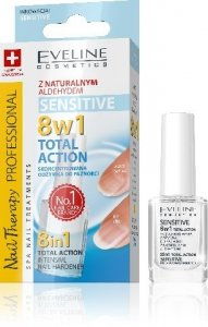 Eveline Nail Therapy Lakier odżywka Total Action 8w1 Sensitive  12ml