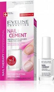 Eveline Nail Therapy Lakier odżywka Nail Cement wypełniająca bruzdy+baza pod lakier 12ml