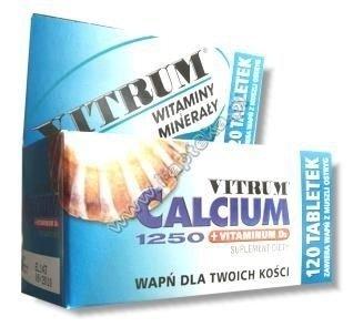 VITRUM Calcium 1250 + Vit. D3 x 120 tabl.