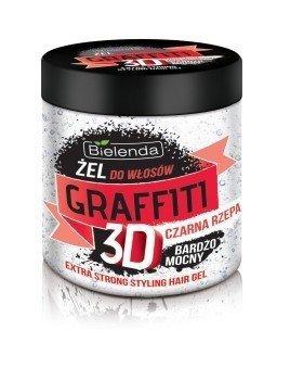 Bielenda Graffiti 3D Zel do ukladania wlosow z czarna rzepa bardzo mocny 250ml