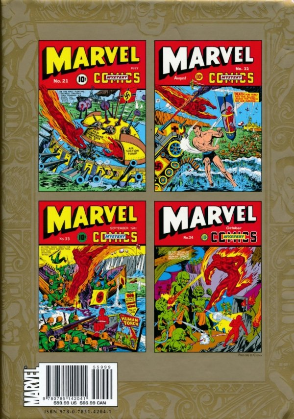 MARVEL MASTERWORKS GOLDEN AGE MARVEL COMICS VOL 06 HC (STANDARD COVER)