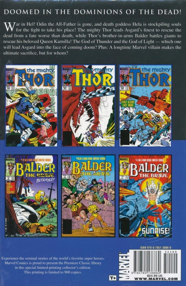 THOR BALDER THE BRAVE HC (VARIANT COVER)