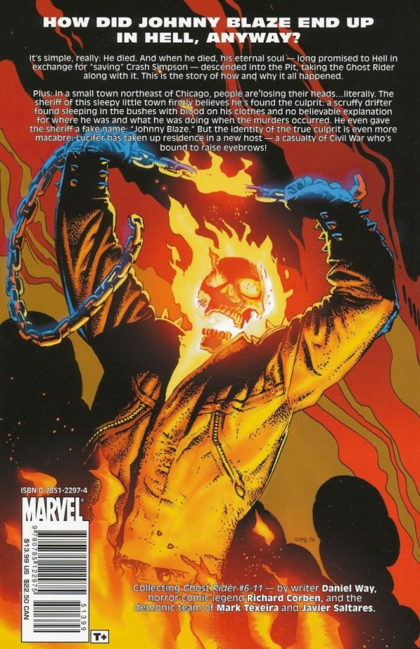 GHOST RIDER VOL 02 THE LIFE AND DEATH OF JOHNNY BLAZE SC *