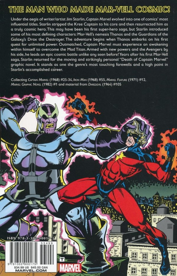 CAPTAIN MARVEL BY JIM STARLIN THE COMPLETE COLLECTION SC
