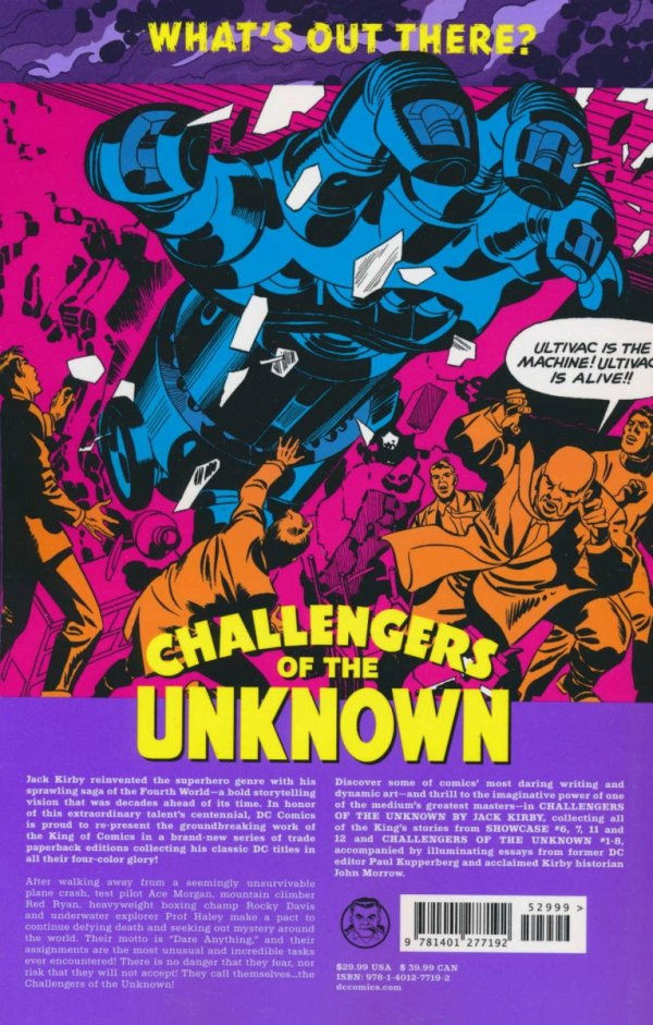 CHALLENGERS OF THE UNKNOWN BY JACK KIRBY SC