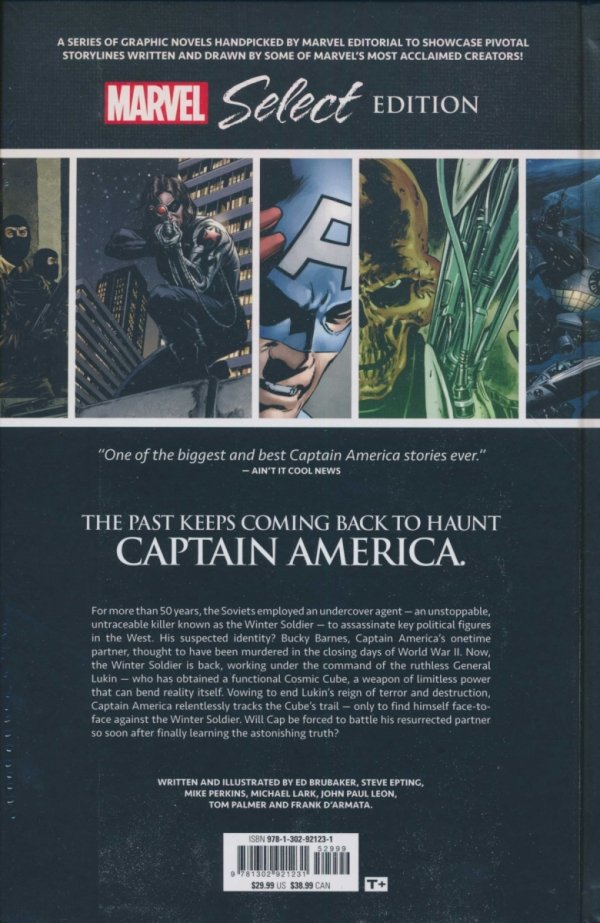 CAPTAIN AMERICA WINTER SOLDIER MARVEL SELECT EDITION HC