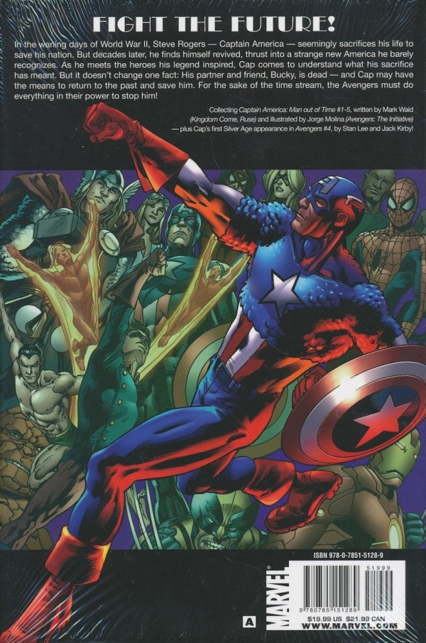 CAPTAIN AMERICA MAN OUT OF TIME HC **