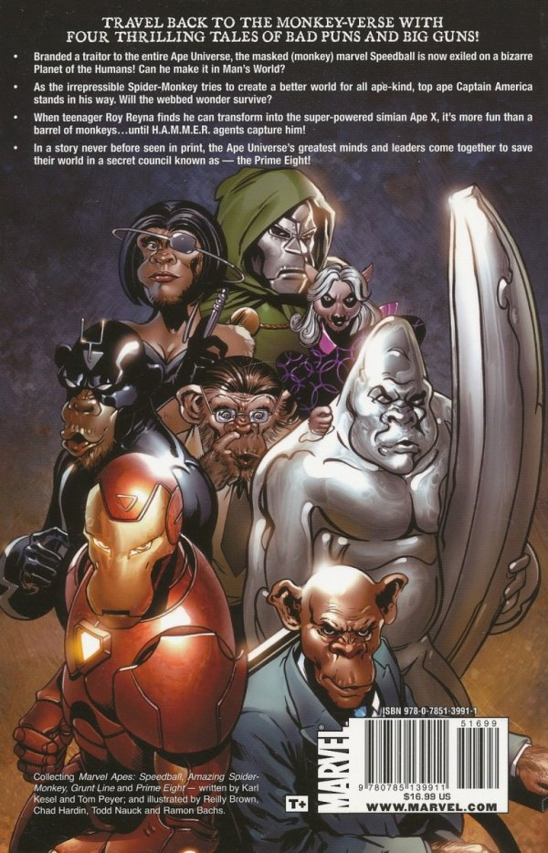 MARVEL APES THE EVOLUTION STARTS HERE SC