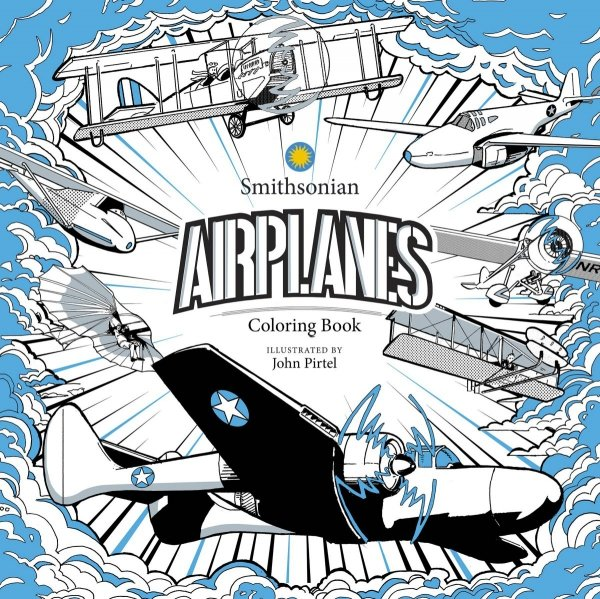 AIRPLANE SMITHSONIAN COLORING BOOK *