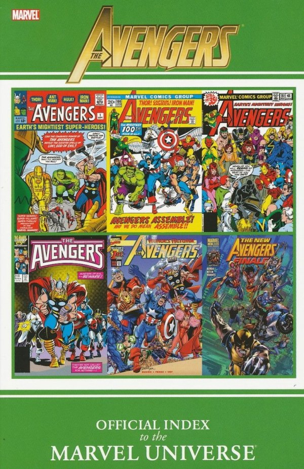 AVENGERS OFFICIAL INDEX TO THE MARVEL UNIVERSE SC **