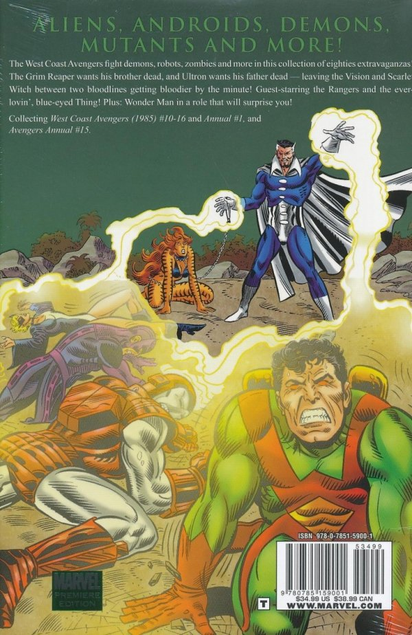 AVENGERS WEST COAST AVENGERS SINS OF THE PAST HC (STANDARD COVER)