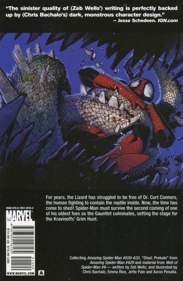 SPIDER-MAN GAUNTLET TP VOL 05 LIZARD