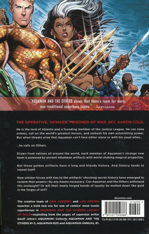 AQUAMAN AND THE OTHERS VOL 01 LEGACY OF GOLD SC