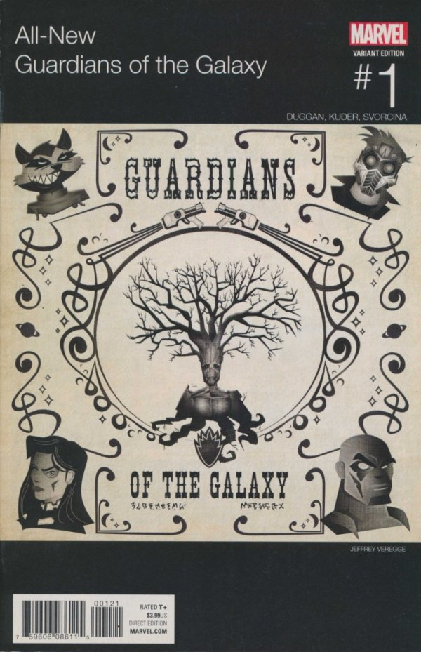 ALL NEW GUARDIANS OF THE GALAXY #1 VEREGGE HIP HOP VAR