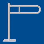 Uchwyt Uchylny WC dla Niepełnosprawnych wolnostojący 60cm biały fi32
