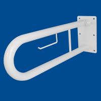 Uchwyt Uchylny dla Niepełnosprawnych z zawieszką na papier 70cm biały fi32