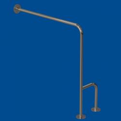 Uchwyt WC dla Niepełnosprawnych mocowany do podł-ścia lewy 80cm fi25