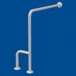Uchwyt WC dla Niepełnosprawnych mocowany do podłi-ścia prawy 70cm biały fi32