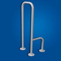 Uchwyt WC mocowany (tylko) do podłogi lewy biały fi32 dla niepełnosprawnych