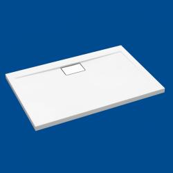 Brodzik posadzkowy najazdowy dla osób starszych i niepełnosprawnych biały akrylowy 90x80